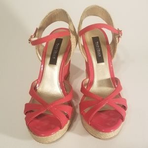 💋 Red Sandal Wedges Size 6.5